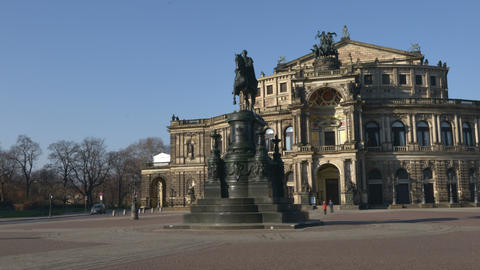 4k UHD Germany Dresden Semperoper Hyper Time 11295 stock footage