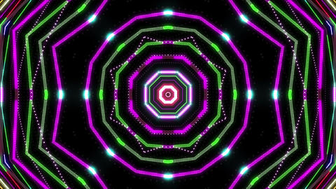 Neon tube Kaleidoscope b A 2 HD Animation