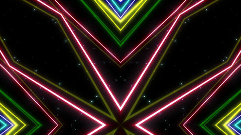 Neon tube Kaleidoscope b A 2hb HD Animation