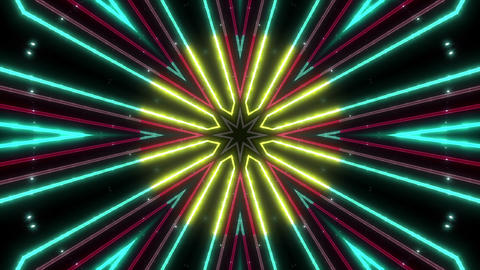Neon tube Kaleidoscope b B 2 HD Animation