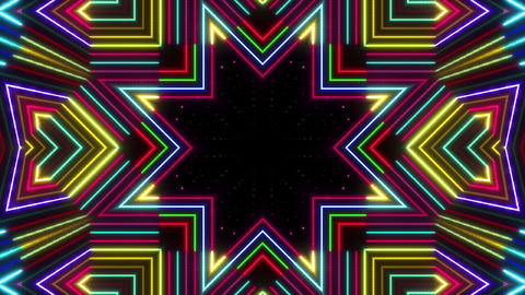 Neon tube Kaleidoscope b E 2 HD Animation