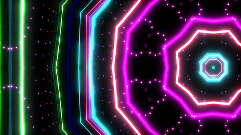 Neon tube Kaleidoscope c A 2hr HD Animation