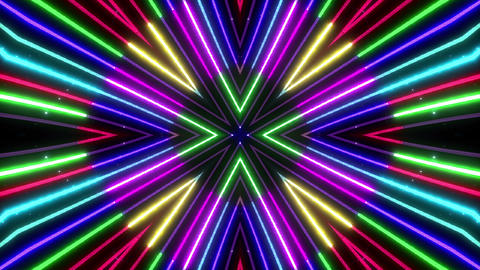 Neon tube Kaleidoscope c C 2 HD Animation