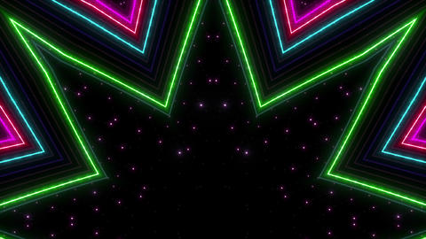 Neon tube Kaleidoscope c C 2hb HD Animation