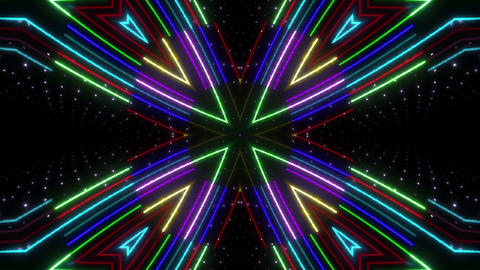 Neon tube Kaleidoscope c E 2 HD Animation