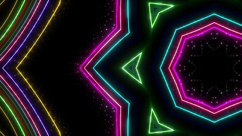 Neon tube Kaleidoscope c E 2hr HD CG動画