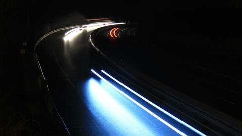 Traffic timelapse by night on a highway Footage