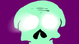 Light comes out from skull´s eye holes Animation