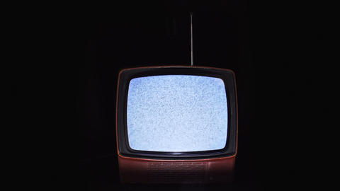Old TV with no signal Footage