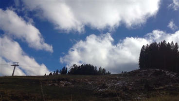 Clouds forming above the Mountaintops time lapse Footage