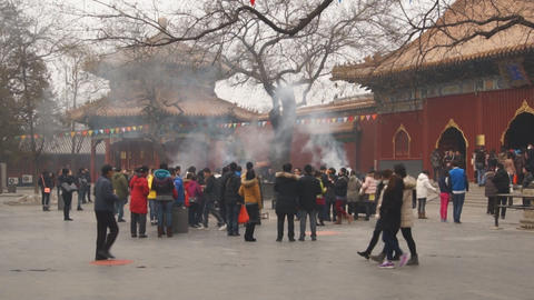 Beijing Lama Temple Yonghegong 01 Footage