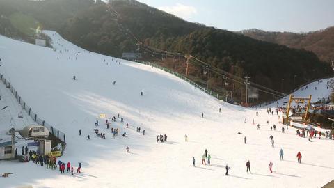 Korea Ski Slope 2 Footage
