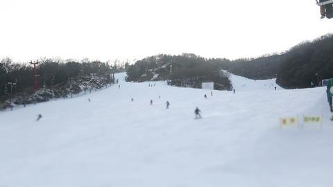 Korea Ski Slope 4 Footage