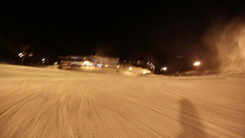 Skiing POV Glide Cam 2 Footage
