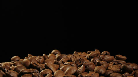 Coffee beans falling Footage