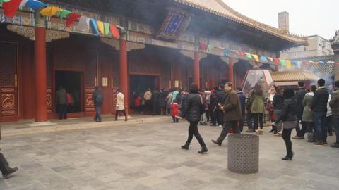 Beijing Lama Temple Yonghegong 06 Footage