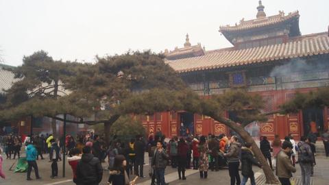 Beijing Lama Temple Yonghegong 08 Footage