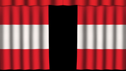 Austria Flag - Paper Curtain stock footage