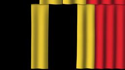 Belgium Flag - Paper Curtain stock footage