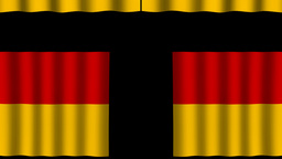 Germany Flag - Paper Curtain stock footage