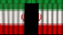 Iran Flag - Paper Curtain stock footage