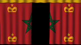 Morocco Flag - Paper Curtain stock footage