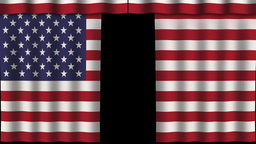 USA Flag - Paper Curtain stock footage