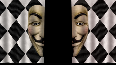 Paper Curtain - Mask of Guy Fawkes Animation
