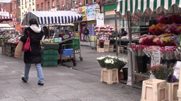 Moore Street Dublin Ireland 1 Footage