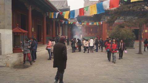 Beijing Lama Temple Yonghegong 11 Footage