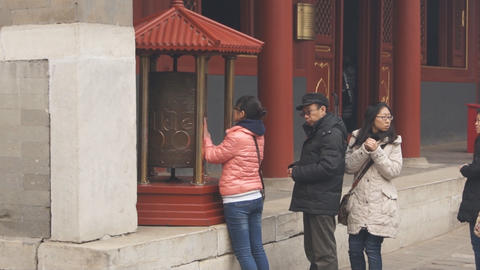 Beijing Lama Temple Yonghegong 12 Footage