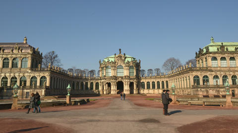Germany Zwinger Palace Hyperlapse Vertigo stock footage