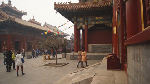 Beijing Lama Temple Yonghegong 13 Footage