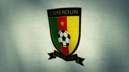 Cameroon National Football Team Flag Textured Animation
