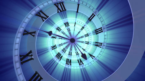 Looping Spiral Clock (4k) Looping Animation stock footage