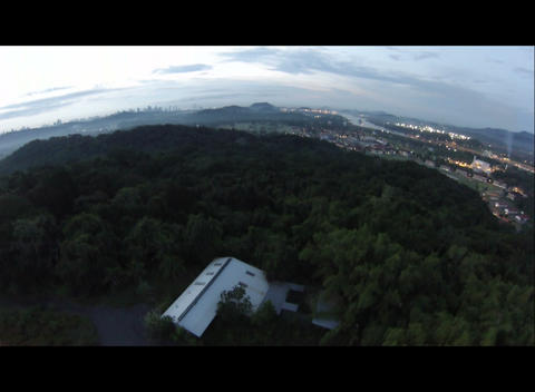 Rising over the rain forest canopy Footage