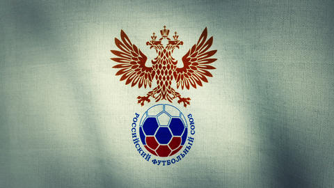 Russia National Football Team Flag Textured (Loop- Animation