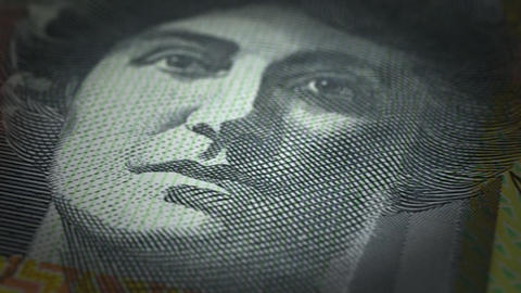 Australian Dollar Close-up Animation