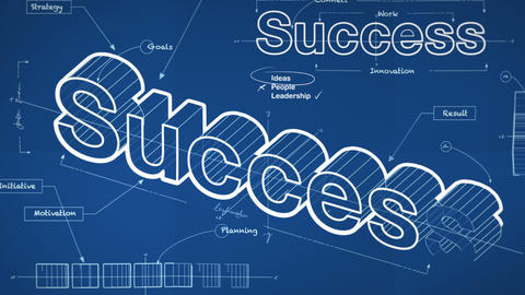 Blueprint For Success stock footage