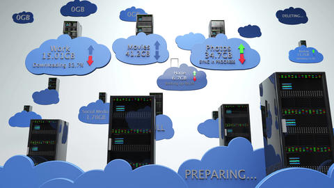 Cloud Servers 26 with Matte Animation