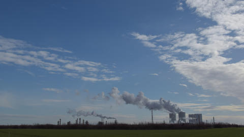 4k UHD Coal Power Station Pollution Time Lap 11307 stock footage