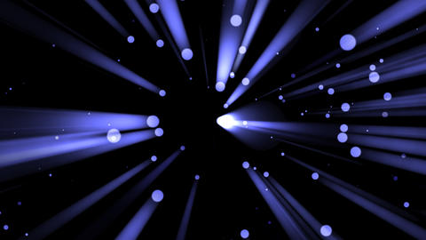 Blue Light Drops and Rays - 03 Animation