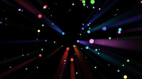 Rainbow Light Drops And Rays - 03 stock footage