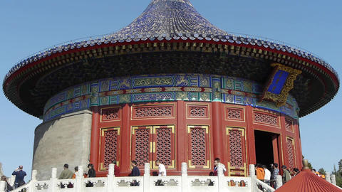 Temple in Beijing.China's royal ancient architecture Animation