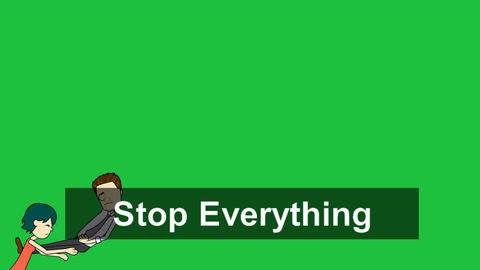 """Stop Everything"" Title Animation Sequence Animation"
