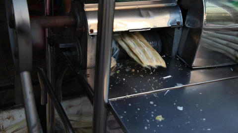 Processing Sugar Cane Juice Footage