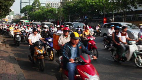 Saigon. Vietnam. Traffic Footage