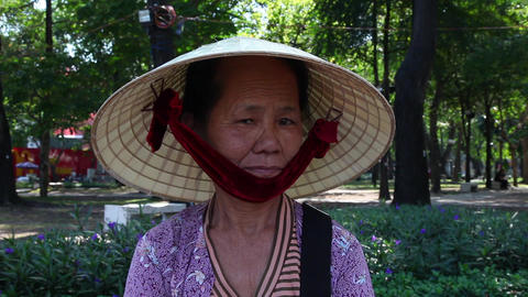Woman, Vietnam stock footage