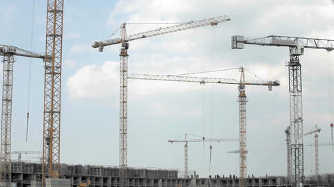 Tower Crane stock footage