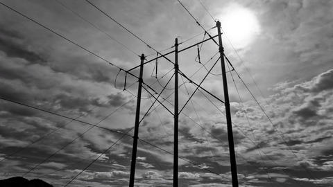 Electrical Poles Timelapse 4k Footage